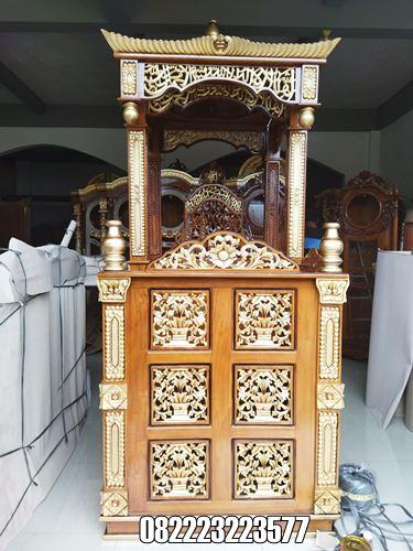 Desain Mimbar Masjid Terbaru Ukir Jepara Kayu Jati