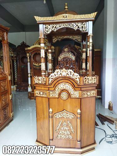 Mimbar Untuk Masjid Kayu Jati Ukir Jepara