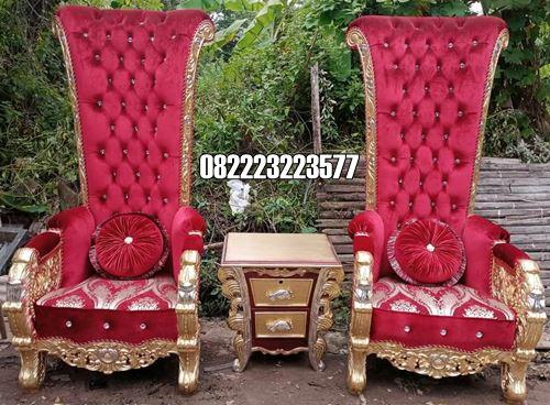 Kursi Sofa Ruang Santai Rumah Desain Ukir Mewah